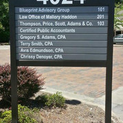 Aluminum Slat Sign