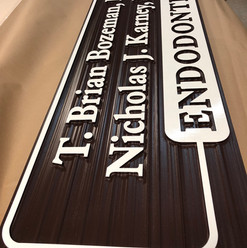 CNC Routed High Density Urethane Sign