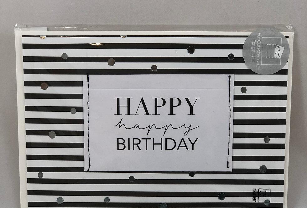 RÄDER - Geburtstagskarte Happy Birthday gestreift