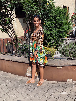FRACOMINA - Buntes Kleid 29FR21SD1008W422N4PRIN0621