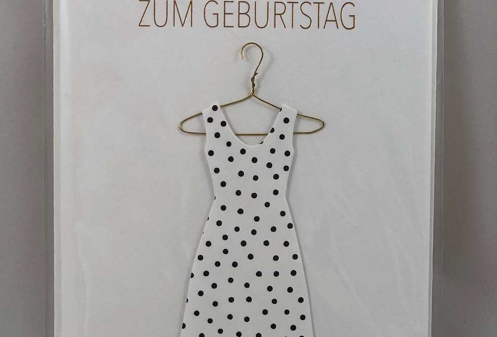 RÄDER - Geburtstagskarte Kleid