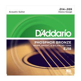 EJ18 Phosphor Bronze Acoustic Guitar Strings, Heavy, 14-59