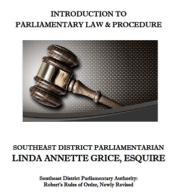 Parlimentary Law and Procedure SED NANBP