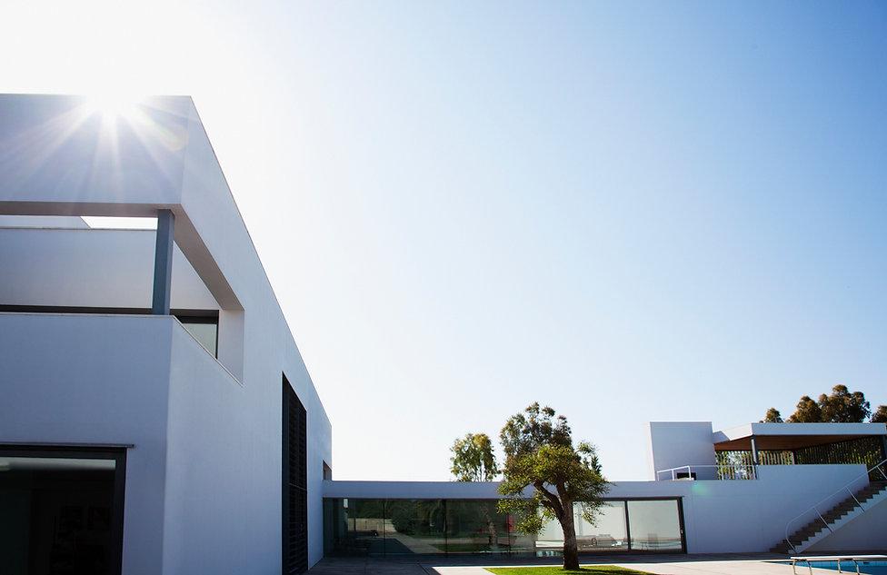 Casas de la vecindad moderna