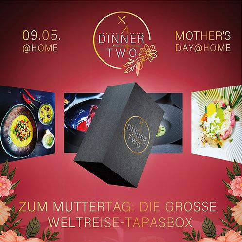 Die große Weltreise-Tapasbox zum Muttertag XXL mit Gin Paket