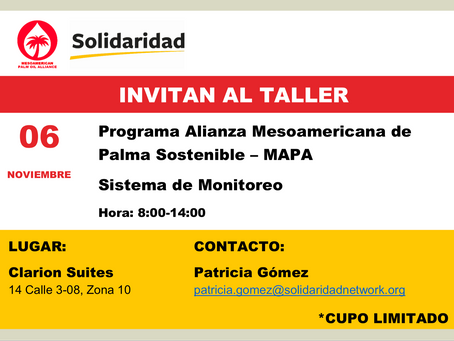 Programa Alianza Mesoamericana de Palma Sostenible - MAPA