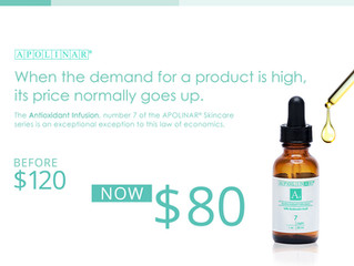 Good News! Antioxidant Infusion is now $80
