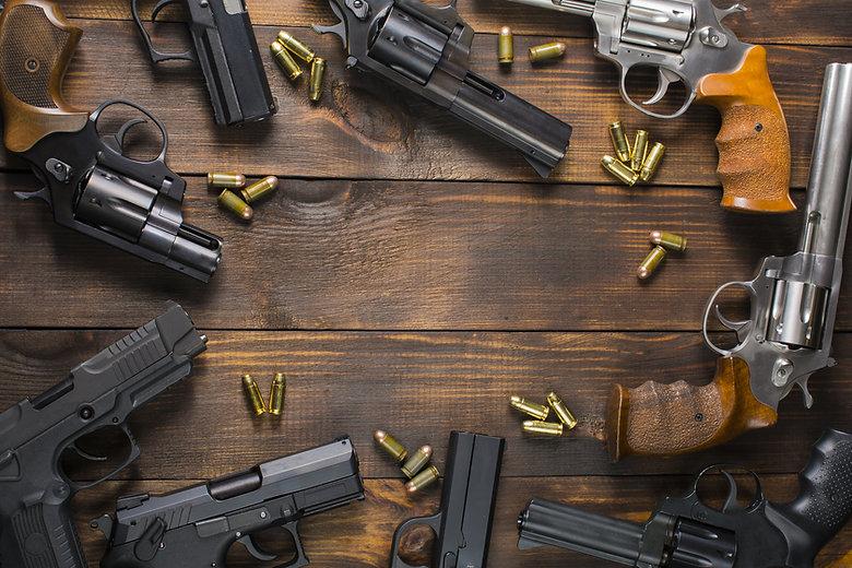 AdobeStock semi autos revolvers and ammo