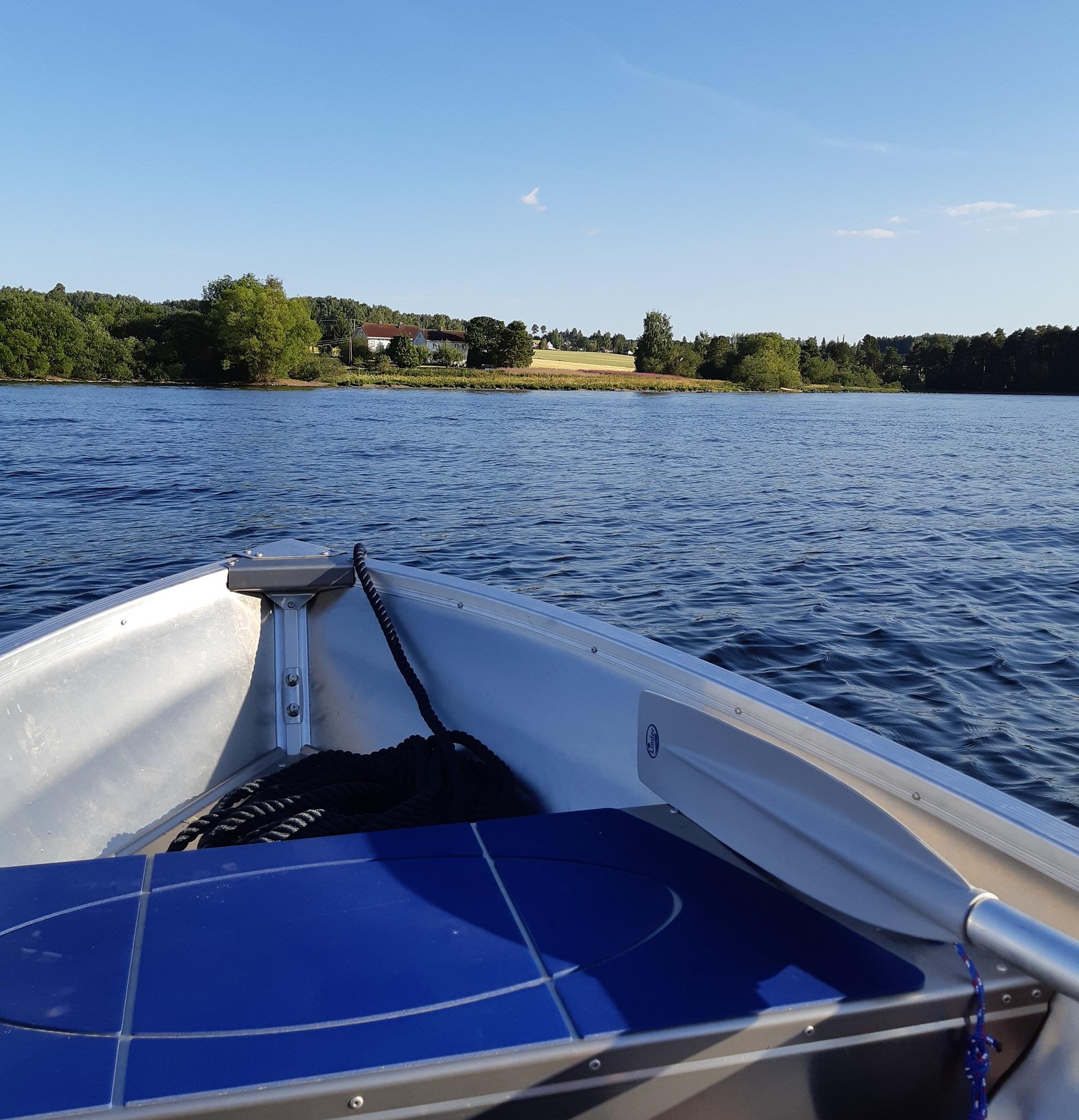 Båt på Mjøsa 1 RED