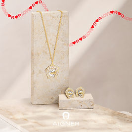 Necklace + Earring_ Beige for_Jew_Ribbon