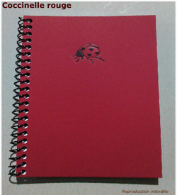 Carnet spirale coccinelle rouge