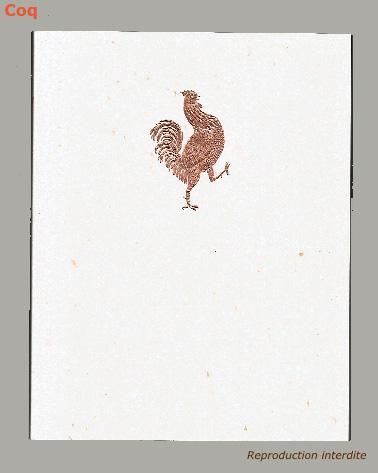 Dos collé coq