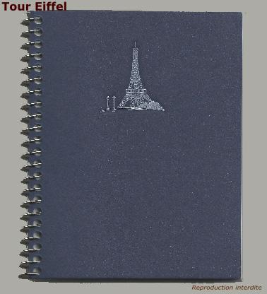Carnet spirale tour Eiffel