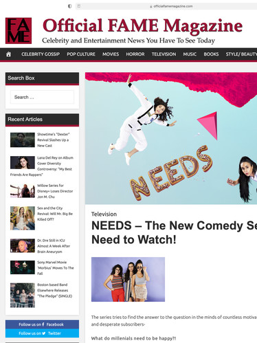 NEEDS – The New Comedy Series. You Need to Watch!