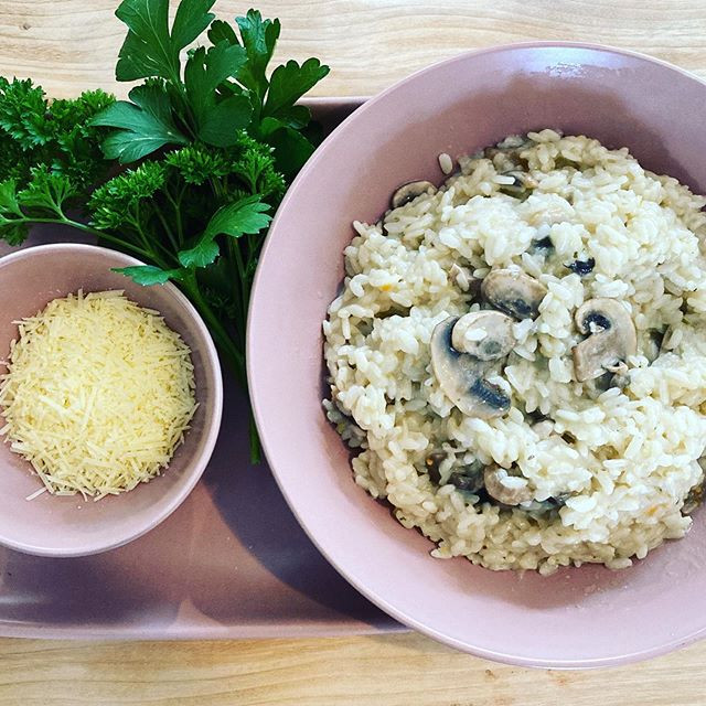 Chicken & Mushroom Risotto ~ This is