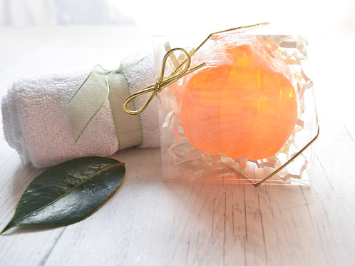 Pumpkin novelty soap