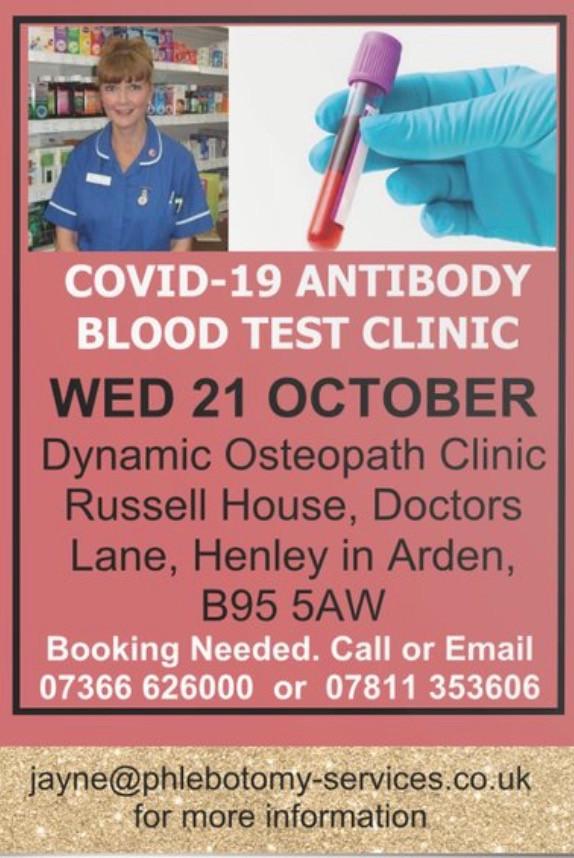 COVID-19 Antibody Testing Birmingham and Solihull