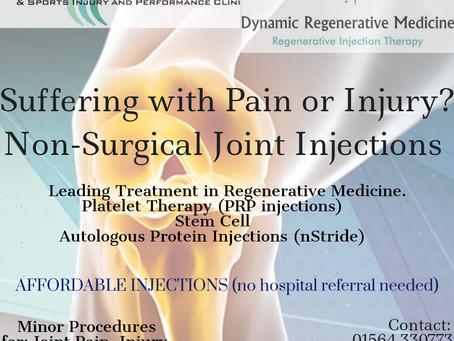 Non-Surgical Joint Injections & Platelet Rich Plasma Treatment Birmingham