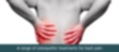 Full range of Osteopathic Tretment for Back Pain Solihull