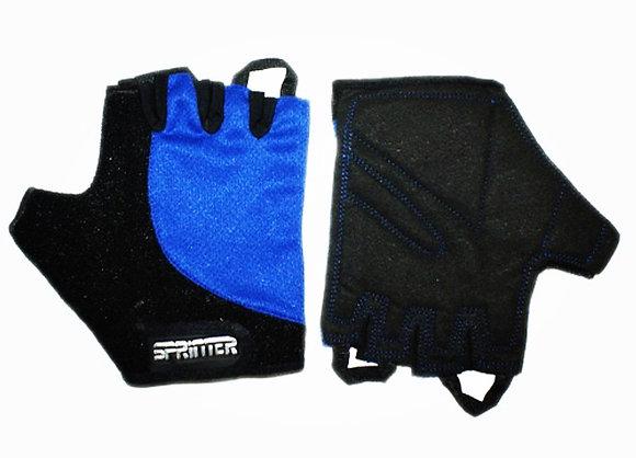 Перчатки б/п SPRINTER синие с петлями XS