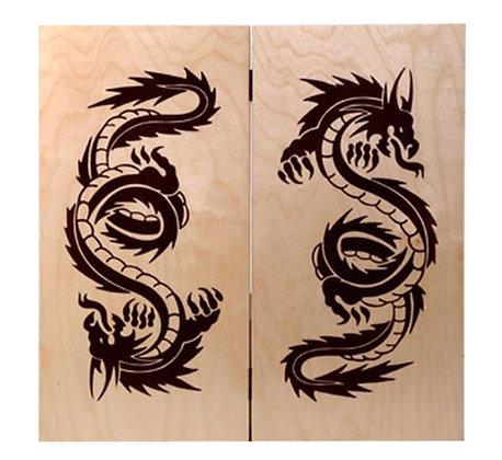 Нарды большие рисунок дракон