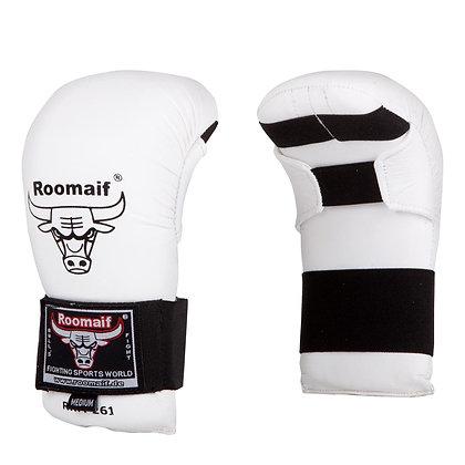 Спарринговые перчатки для каратэ Roomaif 260 ПУ белые