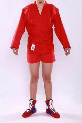 Куртка-самбо SAPSAN красная с подкладом К-51