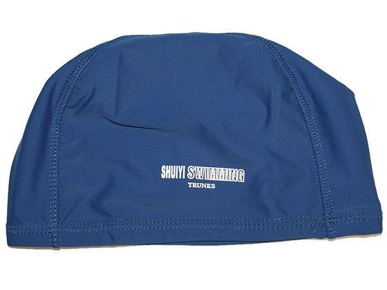 Шапочка для плавания SHUIYI трикотаж 06107 синяя
