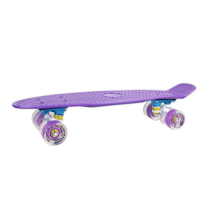 Мини-круизер 01GW Violet светящиеся колеса