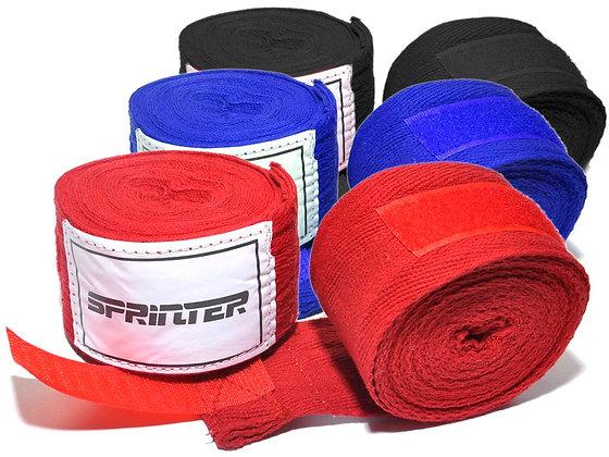 Бинт боксёрский SPRINTER хлопок красный 4 м
