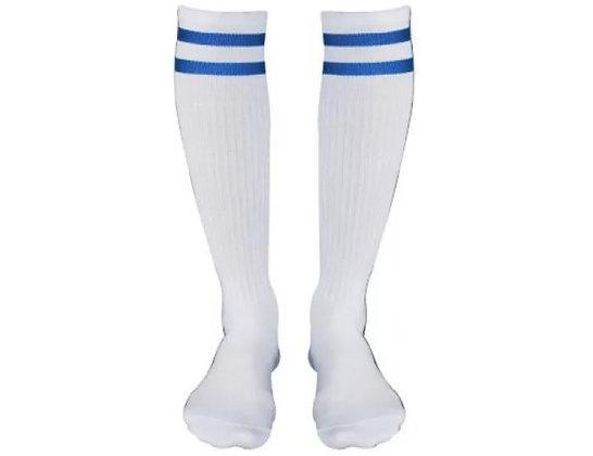 Гетры Ditang белые с синими полосами