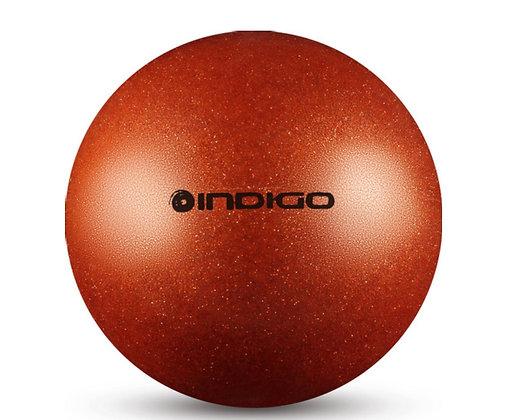 Мяч худ. гимн. INDIGO металлик с блёстками оранжевый 15 см. 280 гр.