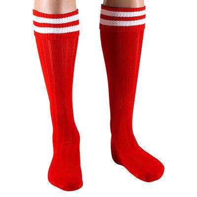 Гетры Ditang красные с белыми полосами