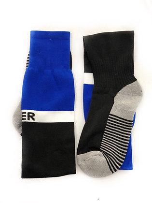 Гетры Sport взрослые командные синий с чёрным