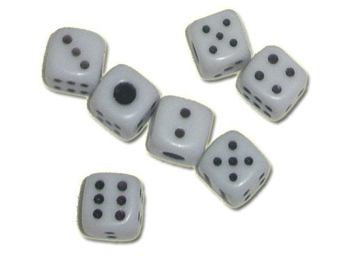 Кубик малый белый с чёрным