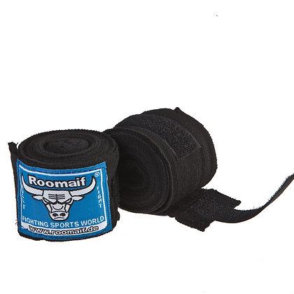 Бинт боксёрский ROOMAIF хлопок чёрный 3,5 м