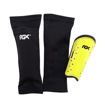 Щитки футбольные RGX черный/лайм