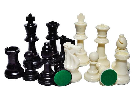 Фигуры шахматные большие пластик