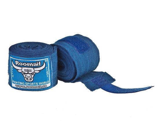 Бинт боксёрский ROOMAIF лайкра синий 3,5 м