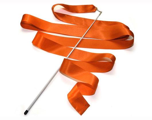 Лента гимнастическая с палочкой. Длина ленты 6 м. Длина палочки 56