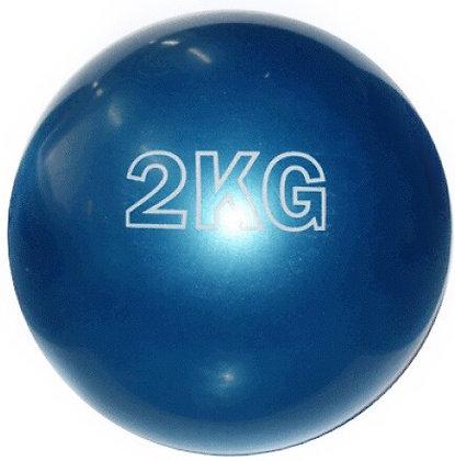 Мяч для пилатеса син 2 кг.