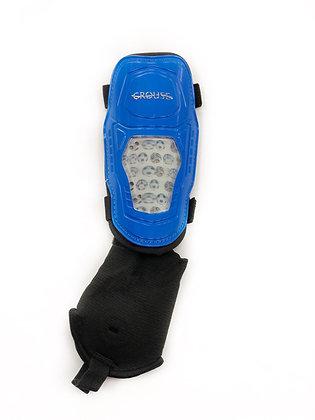 Щитки футбольные Crouse 3D синие