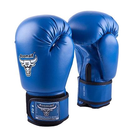 Перчатки боксёрские Roomaif 102 кожа blue