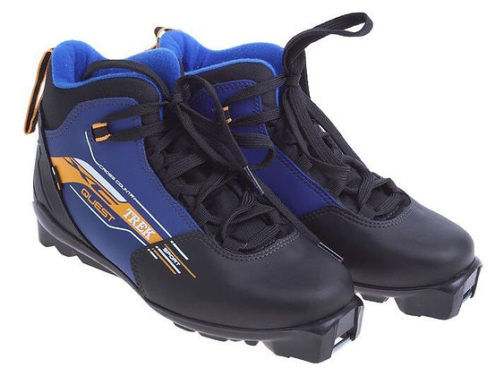 Ботинки лыж. TREK QUEST SNS ИК (чёрный лого синий)