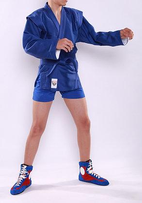 Куртка-самбо SAPSAN синяя с подкладом К-5