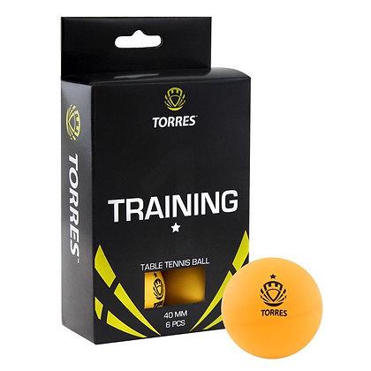 Шарик для н/т 6 шт. жёлт. Torres Training 1*
