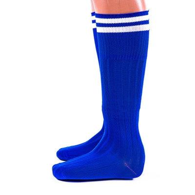 Гетры Ditang синие с белыми полосами