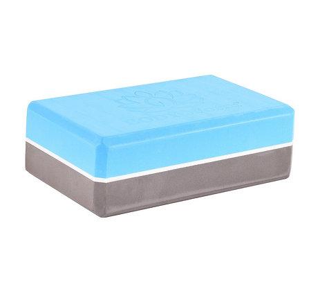 Блок для йоги BF-YB04 (синий/серый)