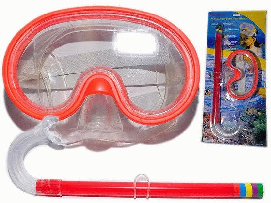 Набор для плавания детский.  В наборе маска для плавани + трубка 27802