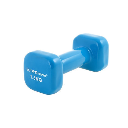Гантель 1,5 кг Body Form DV05 blue виниловая